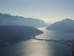 View of Lake Lugano from Monte San Salvatore