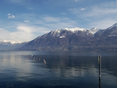 View of Lake Maggiore from Locarno, Switzerland