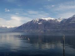 View of Lake Maggiore from Locarno, Switzerland